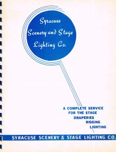 The cover of a catalog in the 1960s