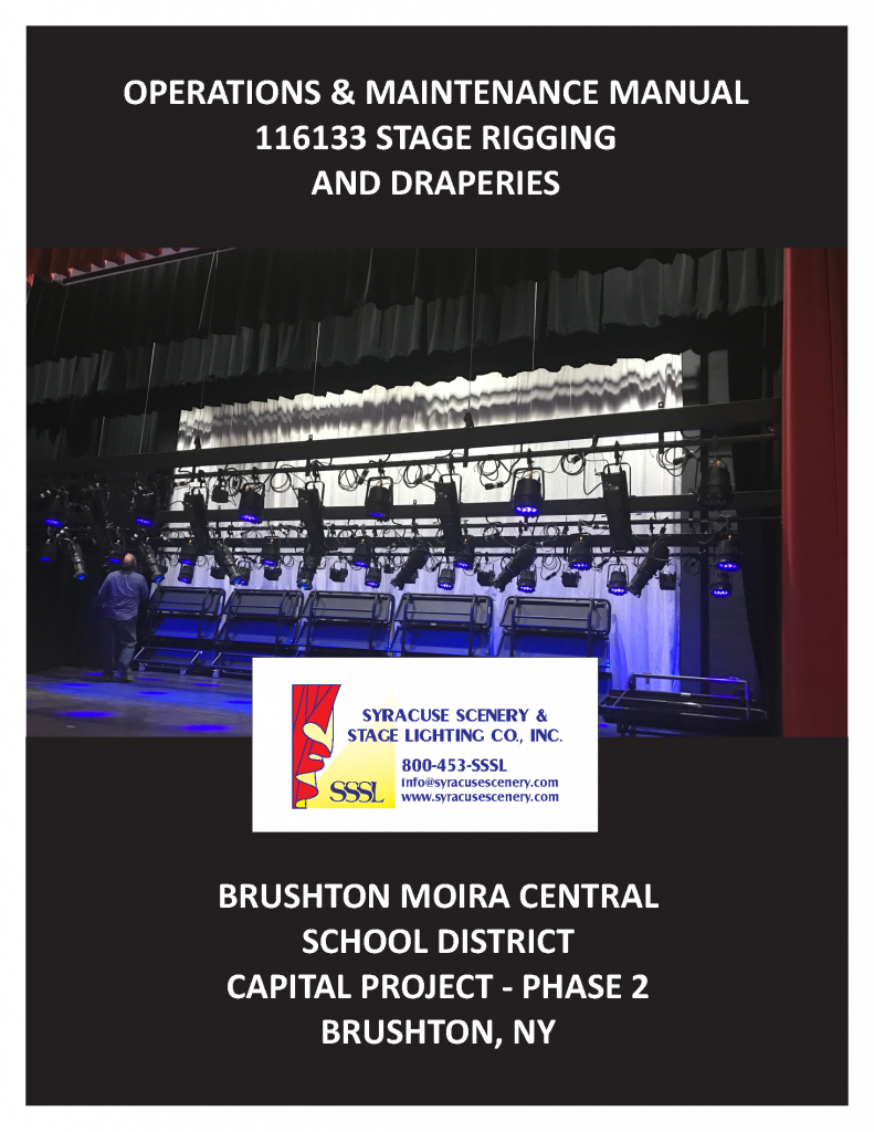 Manual cover for the Brushton Moira Central School District project