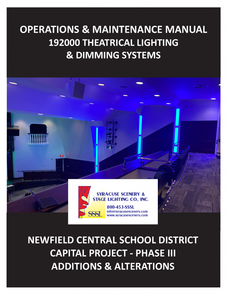 Manual cover for the Newfield Central School District project