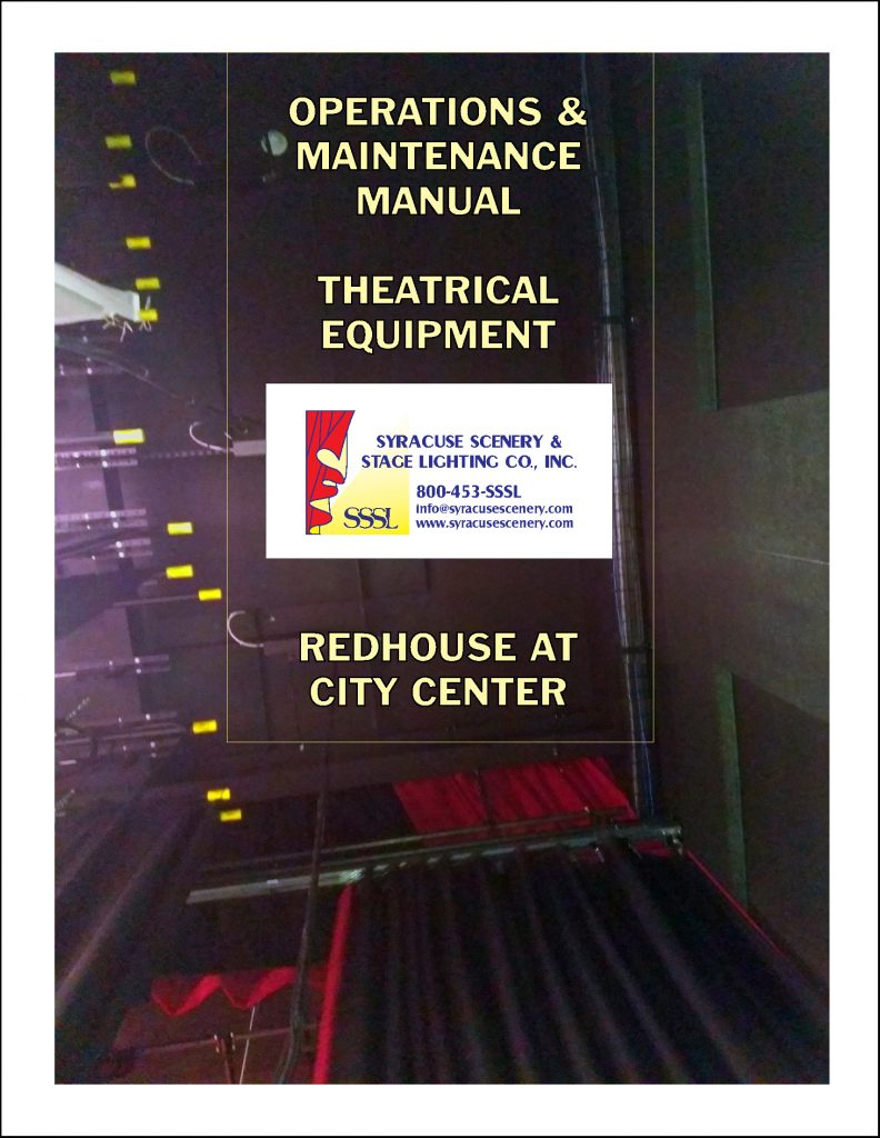 Manual cover for the Redhouse at City Center project
