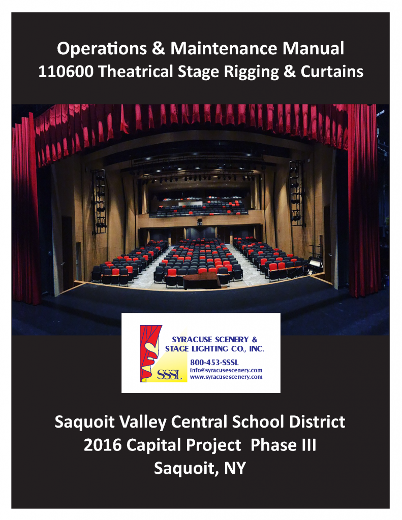 Manual cover for the Saquoit Valley Central School District project