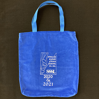 A photo of a blue Syracuse Scenery 2020 & 2021 bag